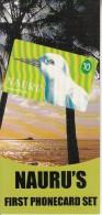 NAURU - Micronesian Pigeon & White Tern, First Phonecard Set Of $10-$20, Tirage 1200, Samples - Nauru