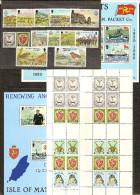 1979 1980 Isola Di Man 2 ANNATE, 2 YEARS  13 Serie E 65v. (131/51, 152/76) + BF3, BF4 E Minifoglio (166/69) MNH** - Isola Di Man