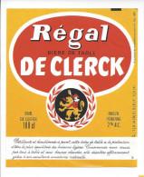 Etiquette De  Bière De Table    -    Régal -   De Clerck  à  Péronne  (80) - Beer