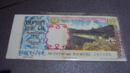 South Vietnam Lottery (50$) Issued In 1972 - Vietnam