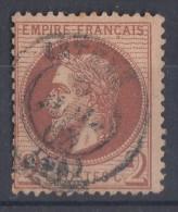 Frankreich Minr.25 Gestempelt - 1863-1870 Napoléon III. Laure