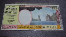 South Vietnam Lottery (30$)  Issued In 1970 - Hon Phu Tu In Ha Tien - Vietnam