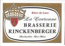 Etiquette De  Bière De Luxe   -  La Couronne   -   Brasserie Rinckenberger  à  Bischwiller  (67) - Cerveza