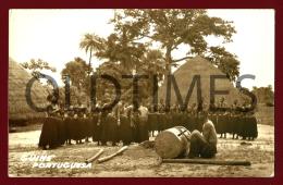 GUINE-BISSAU - COSTA DE BAIXO - BATUQUE DE MANJACAS - 1960 REAL PHOTO PC - Guinea-Bissau