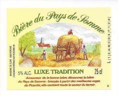 Etiquette De  Bière Luxe Tradition -    Brasserie De Clerck à  Péronne   (80) - Cerveza