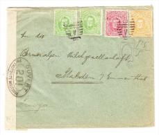 Uruguay Brief Montevideo 9.12.1916 Nach Stalden I. E. Zensur Und Ak.Stempel Stalden-Station 13.I.17 - Uruguay