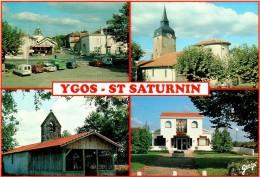 YGOS SAINT SATURNIN : Le Bourg - L'église St Pierre - La Chapelle - La Mairie - France