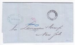 Venezuela Vorphila Brief Mit Inhalt Von Puerto Cabello 21.3.1877 Nach New-York - Venezuela