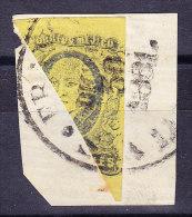 Mexico - 1861 - Halbierung 4.Real Auf Briefstück - Mexique