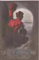 INAUGURAZIONE Del SEMPIONE- Illustratore  METLICOVITZ - MILANO ESPOSIZIONE 1906 CARTOLINA UFFICIALE - Illustrateurs & Photographes
