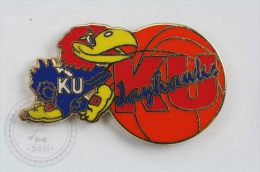 KU Jayhawks - Pin Badge #PLS - Baloncesto