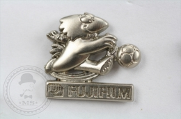 Footix France 98 World Cup Mascot- Silver Colour - Pin Badge #PLS - Fútbol