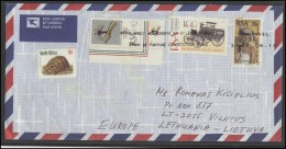 SOUTH AFRICA Envelope Brief Postal History Air Mail ZA 031 Turtle Fauna Transportation National Costume Olympic Games - Afrique Du Sud (1961-...)