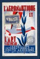 CARTE AERONAUTIQUE N�6 c) PERFORE  E.I.P.A 30 OBLIT. EXPO. INTLLE  POSTE AERIENNE 6/11/1930 TRES RARE SUP. SIGNE BEHR