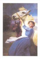 HORSES / PFERDE / CHEVAUX /  HORSES IN ART  - / KEMP WELCH  - YOUNG APRIL / Postcard Unused   ( H 797 ) - Pferde