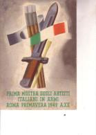 2a Guerra-- F.M.--P.M. 9 Comp. Cinematografisti--Vign. 1aMostra Artisti In Armi-- V.25 2 1943 - Guerra 1939-45