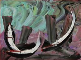 BELLINI ATTILIO In Arte ATTBELL (n. 1939) Senza Titolo. Olio Su Tela . Cm 50,00 X 65,00. Firma In Basso A Dx. - Olii