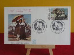 FDC- Journée Du Timbre, Goya La Lettre D'amour - Paris - 7.3.1981 - 1er Jour, - 1980-1989