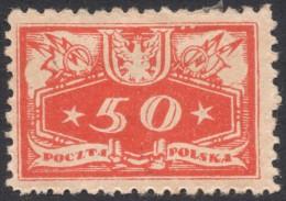 Poland, 50 F. 1920, Sc # O6, Mi # 6, MH - Officials