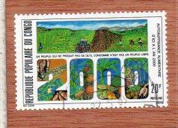 REP. POPULAIRE DU  CONGO  -- AUTOSSUFFISANCE  ALIMENTAIRE   --  **  20  F. ** --  POSTE  1987  --  BEG - Congo - Brazzaville