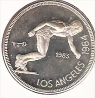 CUBA 5 PESOS 1983 ZILVER PROOF LOS ANGELES OLYMPICS 1984 - Monnaies