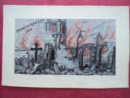 Carte Brodée Ramscapelle 1914 - Guerre 1914-18
