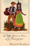 Carte Vignette Des Farines Jammet Pour La Province De La Bourgogne. - Costumes