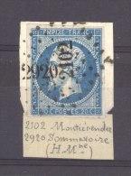 FRX 520  :  Yv  14   (o)   ,Rare: Double PC 2102 Montierender + 2920  Sommevoire PC  1892    Marquise - 1849-1876: Periodo Classico