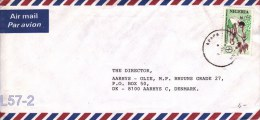 Nigeria Cover To Denmark Posted Apana - Tropical Agriculture (L57-2) - Nigeria (1961-...)