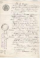 VP1149 - Acte Bail D´un Appartement à PARIS Par Mme CHARRIN à Mr MOINIER Capitaine De Gendarmerie Au HAVRE - Police & Gendarmerie