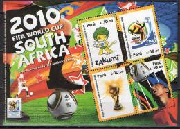 Peru 2010 Football Soccer World Cup S/s MNH - Coupe Du Monde