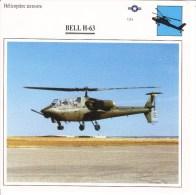 Fiche Technique  -  Hélicoptère Terrestre  (USA)  -  BELL H-63 - Schede Didattiche