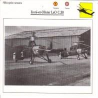 Fiche Technique  -  Hélicoptère Terrestre  (Espagne/France)  -  LIORE-ET-OLIVIER LEO C30 - Schede Didattiche