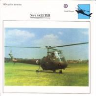 Fiche Technique  -  Hélicoptère Terrestre  (GB)  -  SARO SKEETER - Schede Didattiche