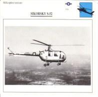 Fiche Technique  -  Hélicoptère Terrestre  (USA)  -  SIKORSKY S-52 - Schede Didattiche