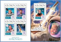 slm14115ab Solomon Is. 2014 Space Australian Astronauts 2 s/s