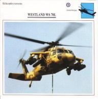 Fiche Technique  -  Hélicoptère Terrestre  (GB)  -  WESTLAND WS 70L - Sin Clasificación