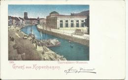 DANMARK GRUSS AUS KOPENHAGEN  CARTOLINA CARD THORWALDSEN MUSEUM  UNIONE POSTALE UNIVERSELLE - Danemark