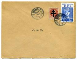 Lettre Avec Cachet POSTE SPECIAL FFI = Vignette DE CAULE FFI  / MLN   + Croix De Lorraine  /  19 Aout 1944 - WW II