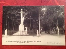 12 Aveyron St SAINT-AFFRIQUE Le Monument Aux Morts Et Avenue De Vabre - Saint Affrique