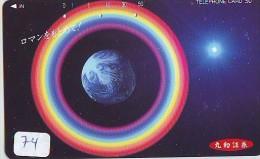 Télécarte Espace (74) COMETE  * Japan SPACE * COMET * WELTRAUM * UNIVERSE * PLANET - Astronomie
