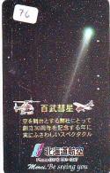 Télécarte Espace (76) COMETE  * Japan SPACE * COMET * WELTRAUM * UNIVERSE * PLANET - Astronomie