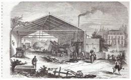 Gravure  D Epoque  1863 Machine Agricole  Locomobile  Hermann  Hydro Extracteur - Vieux Papiers