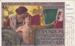 Torino 1911. Esposizione Internazionale Delle Industrie E Del Lavoro. Illustratore . G. Carpanetto - Esposizioni