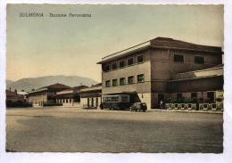 SULMONA - L'AQUILA - ANNI 50 - STAZIONE FERROVIARIA. NON VIAGGIATA. - L'Aquila