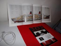 """REVUE 303 DOSSIER 48 PAGES SUR """" LE FRANCE """" Avec COUPE LONGITUDINALE DU PAQUEBOT - Boats"""