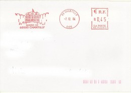 EMA RC 93307 Oise 60 + Flamme Illustrée Mairie De Chantilly - EMA ( Maquina De Huellas A Franquear)