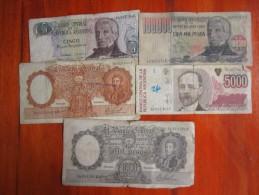 32 BILLETES Y BONOS EN REGULAR ESTADO ARGENTINA   SOLD AS IS LOTE LOT - Banknotes