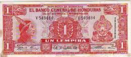 HONDURAS 1 LEMPIRA 1961 R PICK # 54Aa - Honduras