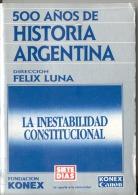 """HIST. ARGENTINA Nº 29 """"LA INESTABILIDAD CONSTITUCIONAL"""" DE AA.VV- AÑO 1988- EDIT.ABRIL-FUND. KONEX- PAG.125-GECKO. - Histoire Et Art"""